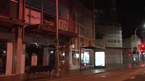 A Bondi Junction shopping centre near where the brawl took place. (9NEWS)