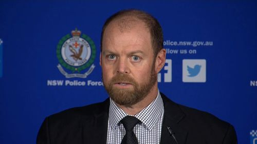 "Strike Force Raptor's Detective Chief Inspector John Walke described the bikies' actions as ""intimidation"" and said ""it is not tolerated"". Picture: 9NEWS"