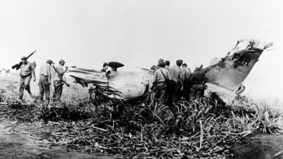 1961: The disastrous Bay of Pigs invasion, organised by the CIA, was a major embarrassment for the US. CIA-trained Cuban exiles, backed by US warplanes, invaded Cuba on April 17 and were defeated within three days. The invasion led to Cuban President Fidel Castro's public endorsement of socialism and his intention to develop closer ties with the Soviet Union. (Getty)