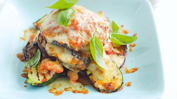 Char-grilled vegetable gratin