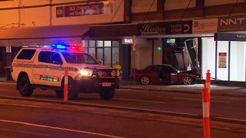 Police shut off Stanley Street for a number of hours following the crash.