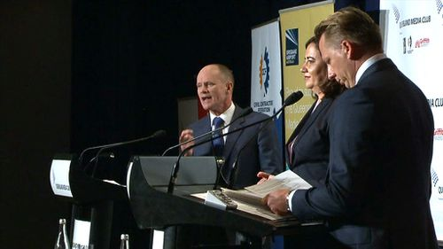 Newman has repeatedly claimed a vote for Labor is a vote for outlaw motorcycle gangs. (9NEWS)