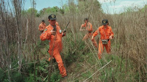 SES volunteers search for clues into the disappearance of Jessica Small.