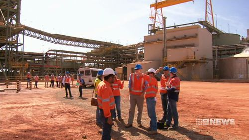 BHP's South Flank project is set to employ 2500 workers during its construction. Picture: 9NEWS