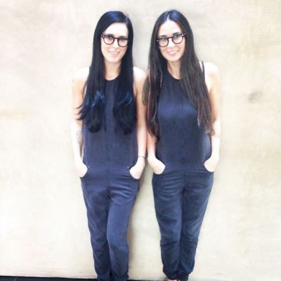 """That moment when you realize you actually are becoming your mother,"" said Rumer Willis of this snap with Demi Moore."