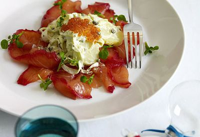 Beetroot-cured salmon