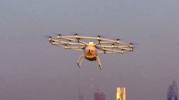 Dubai's proposed 'flying taxi' service would involve the use of large 'Volocopter' drones. (Reuters)