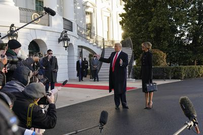 Donald and Melania Trump leave White House for last time