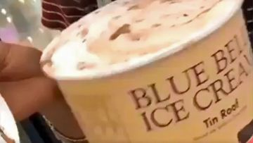 Woman filmed licking Blue Bell ice cream before putting it back.