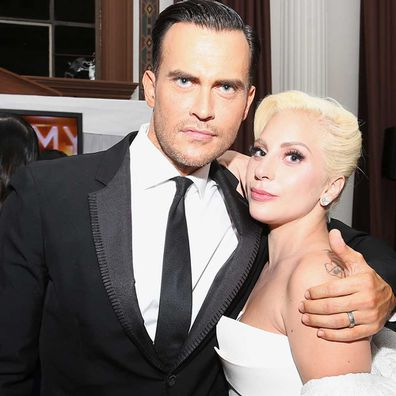 Cheyenne Jackson and Lady Gaga.