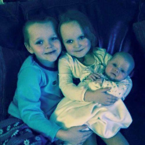 Brandon, Lacie and Lia Pearson, who died following a blaze at their home in Greater Manchester