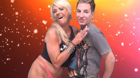 You can't un-see this: Tan Mom takes it off for diabolical new music clip - that G-string is just too small!