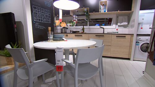 Ikea's Tempe store will start Take Back service from today. Picture: 9News