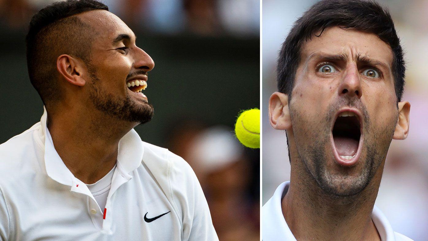 Nick Kyrgios' subtle dig at Novak Djokovic
