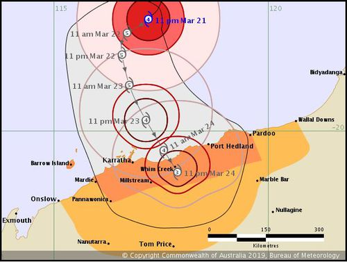News weather Australia Tropical Cyclone Veronica Western Australia