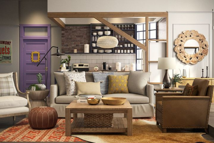 Monica and Chandler's apartment reimagined for 2018