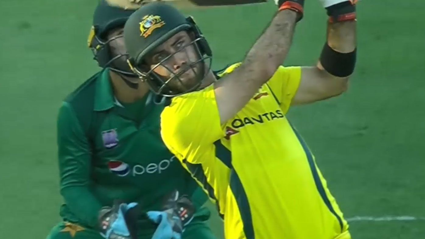 Maxwell was in fine form with the bat against Pakistan