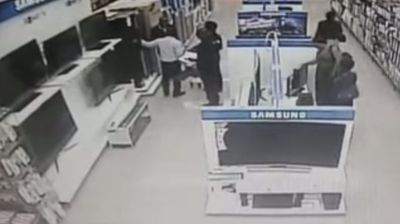 <p>Now you see it now you don't.</p> <p> A female thief in Zambia has been filmed making a flat screen TV disappear – up her skirt. </p> <p>The theft took place from a department store in the country's capital Lasaka on June 16, local media report.</p> <p> CCTV footage shows a woman and a female accomplice positioning themselves next to the Samsung displays.</p> <p>Next, the woman casually takes the flat screen off the display counter, which looks to be in the vicinity of 32 inches, and lowers it down to her legs.</p> <p>The woman and the other lady move into full view, and the TV has disappeared from the counter. </p><p>The two ladies make their way out of the store, one with an obvious hobble</p>   <p>The CCTV footage has been released to social media to try and locate the stolen goods but nothing has been found so far.</p> <p>Perhaps surprisingly, the woman is not the first to steal a TV with an upskirt manoeuvre. Click though this gallery to see more footage of surprisingly ambitious thieves.</p><p>  </p>