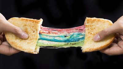 Rainbow grilled cheese toast, KALA Toast, Tsuen Wan