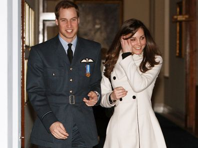 Prince William and his girlfriend Kate Middleton at his RAF graduation ceremony in 2008