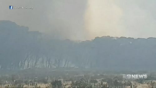 The bushfire is burning near homes in WA's south.