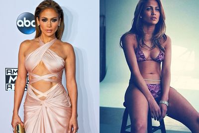 Last month, JLo booty-popped all over the AMAs stage alongside Aussie rapper Iggy Azalea. Before her sexy performance, she walked the red carpet in one of the most scantily-clad frocks we've <I>ever</i> seen... proving once again, the strength of double-sided tape. <br/><br/>If break-ups had winners, Jen would be a clear favourite.