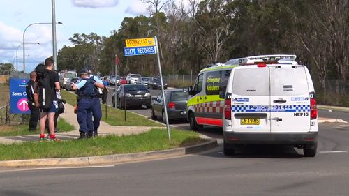 Two children were in the car at the time of the alleged offence. (9NEWS)