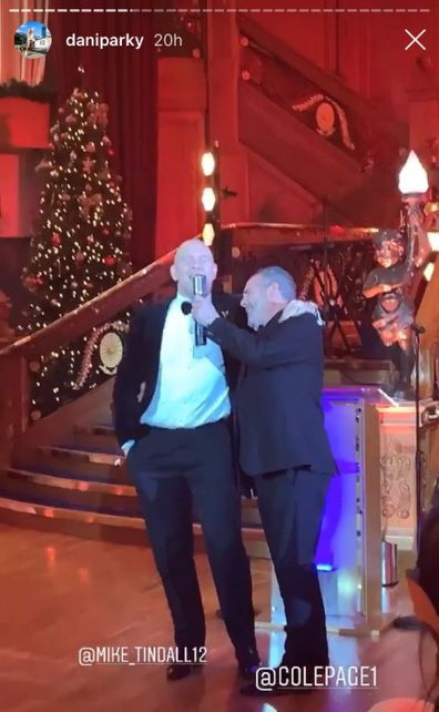 Mike Tindall belting out a tune at a charity event