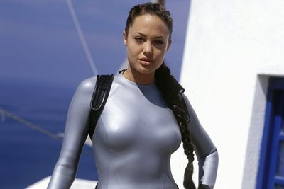 Angelina's action-adventure globe-trotting queen jumped from video game to the big screen in memorable, skin-tight fashion.