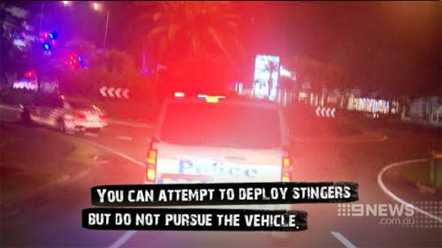 Police allegedly continued to chase the suspects after being told to drop back. (9NEWS)