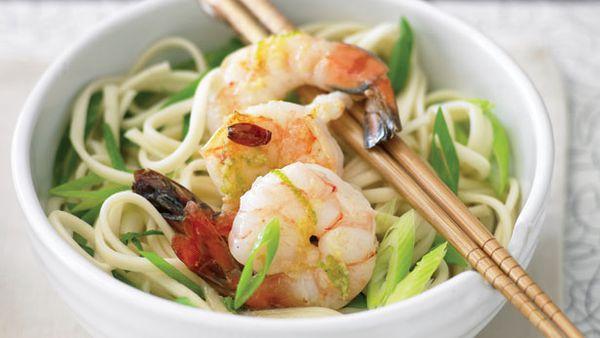 Cold asian noodle bowl