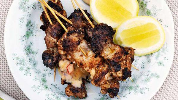 Chicken sticks with harissa mayo