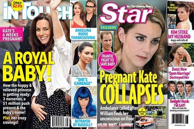 Kate's tummy is the tummy to watch in 2012. Speculation about royal babies and pregnancy have already been swirling for months now, so it's only a matter of time...