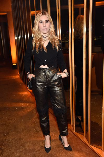 Girls actress Zosia Mamet at  V Magazine's Intimate Dinner In Honour of Karl Lagerfeld, October 2017
