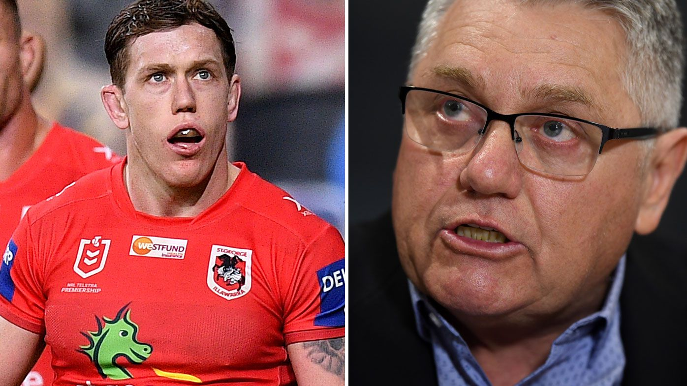 Cameron McInnes and Ray Hadley have clashed over the Dragons' form issues