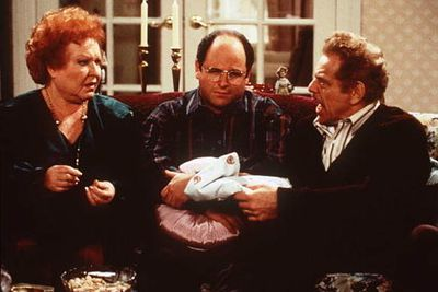 No wonder George Costanza (Jason Alexander) was so messed up. His parents Frank and Estelle (Jerry Stiller and Estelle Harris) had one of the screechiest and snappiest marriages-from-hell in TV history.