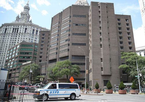 A general view of the Manhattan Correctional Center where the US financier Jeffrey Epstein was found dead in New York.