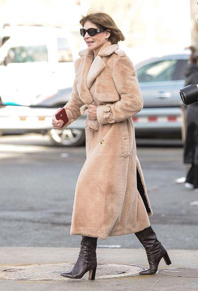 <em>US Vogue</em> editor-in-chief Anna Wintour at&nbsp;New York Fashion Week, autumn/winter 2018