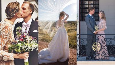 "<p>If you were an A-lister who got married in 2015, chances are you wore Valentino. The house was the go-to label for everyone from design duo Maria Grazia Chiuri and Pierpaolo Piccioli, to heiresses Nicky Hilton and Beatrice Borromeo, to Benedict Cumberbatch's wife Sophie Hunter. </p><p>If the gown wasn't Valentino, then it was luxurious lace. Case in point: Sofia Vergara, whose custom-made Zuhair Murad dress was embellished with three kilograms of pearls, 350 crystals and ""inspired by the frescoes of European churches"". </p><p>The flower crown got a chic upgrade courtesy of models Frida Gustavsson and Jacqui Ainsley, while jewellery designer Sabine Ghanem will have you seriously considering a wedding cape. </p><p>Take a look at the most breathtaking brides of 2015.&nbsp;</p>"