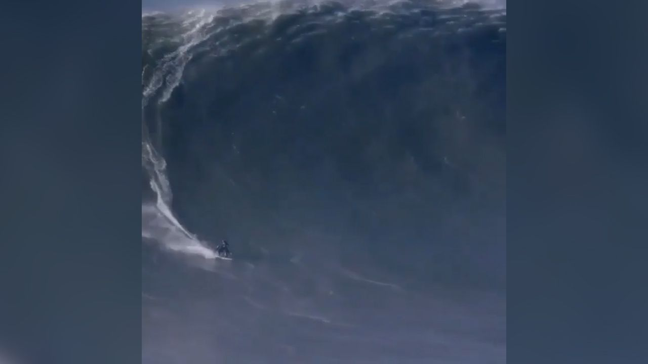 Andrew Cotton breaks back at Nazare