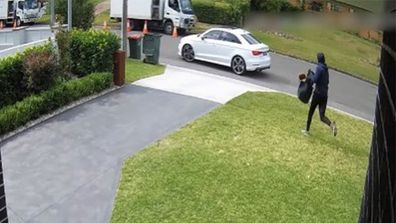Police are hunting this man who broke into the home of the Abdallah family.