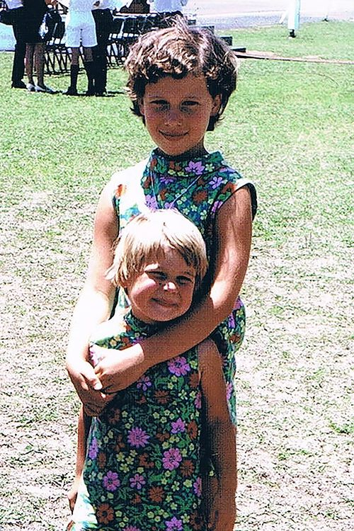Anita Cobby posing for a photo with her younger sister Kathryn Szyszka when they were children.