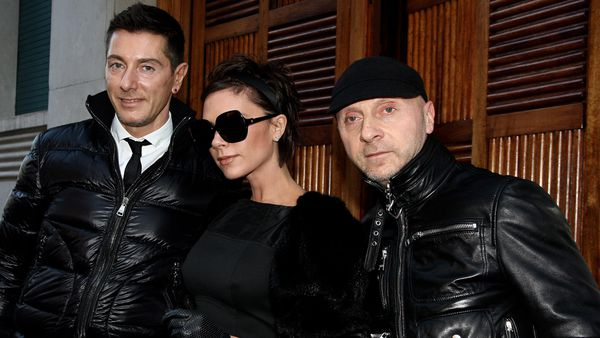 Victoria Beckham with Stefano Gabbana and Domenico Dolce in 2008. Image   Getty 31818b758cb