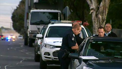 Investigators at the scene.