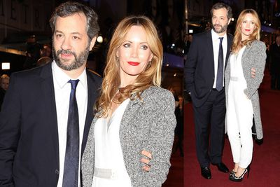 Director Judd Apatow and actress Leslie Mann.