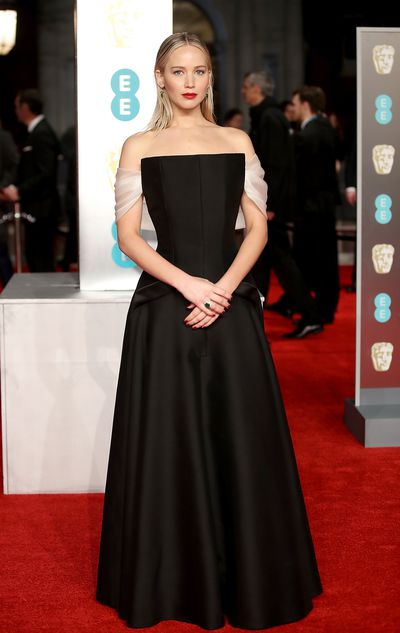 Jennifer Lawrence in Christian Dior at the British Academy Film Awards (BAFTAs)