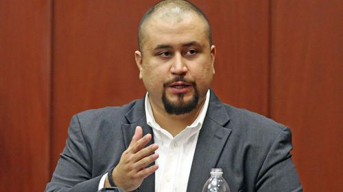 In his 2016 file photo, George Zimmerman looks at the jury as he testifies in a Seminole County courtroom in Orlando, Florida.