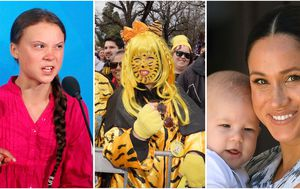Photos of the week: Thunberg's thunder, AFL finals and a royal baby's outing