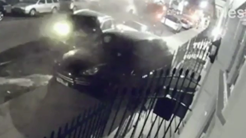 The chaos was captured on CCTV with some residents saying it sounded like an explosion.