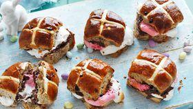 Hot cross bun s'mores